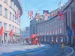 Regent Street, Summer Light by Charles Rowbotham -  sized 14x10 inches. Available from Whitewall Galleries